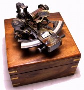 Solid Bronze Sextant - With Wooden Box - Nautical Navigation Collection 4