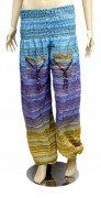 Casual Aladdin Afghani Pants in Cotton Fabric with Elastic Waist